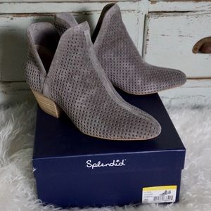 Splendid Havard Suede Charcoal Ankle Boots